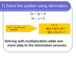 1 solve the system using elimination step 5 check your solution