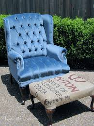 blue wingback chair. Blue Wing Back Chair Wingback