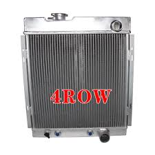 4 Row Aluminum Radiator For FALCON 63-64 MUSTANG 65-66 MERCURY ...