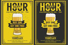 Happy Hour Flyer Beer Happy Hour Flyer