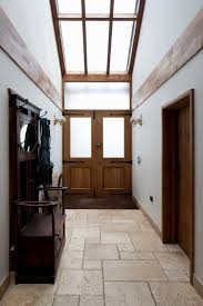 entrance   timber front door   vaulted ceiling   high ceiling ...