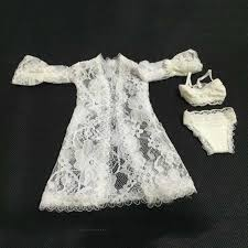 <b>1/6</b> Sexy White Lace Blowse Bra Underwear Set Models For 12 ...