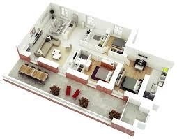 25 Weitere 3 Schlafzimmer 3d Grundrisse Architektur