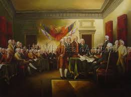 a signing of the declaration of independence