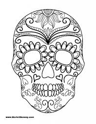 Small Picture Day Of The Dead Sugar Skull Coloring Pages Sugar Skull Coloring