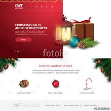 Free Christmas Website Templates Christmas Website Template With Christmas Gifts And Old Lamp