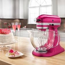 Pink Kitchen Aid Mixer Ksm155gbri Raspberry Ice Premium Metallic Series 5 Qt Countertop