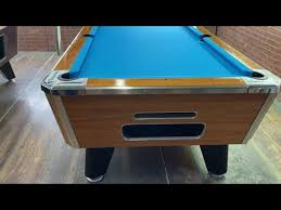 light oak used coin operated pool table