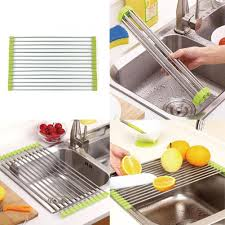 Drainer Kitchen Accessories <b>Dish</b> Drying <b>Rack Holder</b> Sink <b>Storage</b> ...
