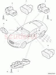 Switches in door trim panel f 3w 4 020 001>> 3w