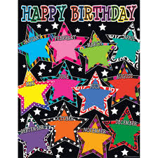 Birthday Chart Details About Fancy Stars Happy Birthday Chart Teacher Created Resources Tcr7754
