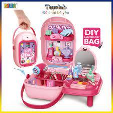 Toyslab] Đồ chơi nhập vai trang điểm cho bé BOWA 8252 : Balo đồ chơi dụng  cụ trang điểm 32 chi tiết tại Hà Nội