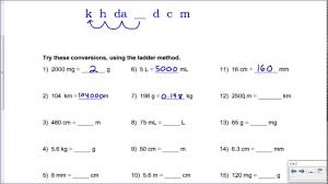 Metric Mania Conversion Practice Key
