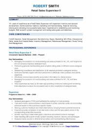 Summary For Resume Retail Retail Sales Supervisor Resume Samples Qwikresume