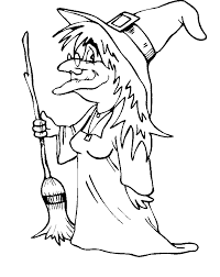 Small Picture Witch coloring pages and her broomstick ColoringStar