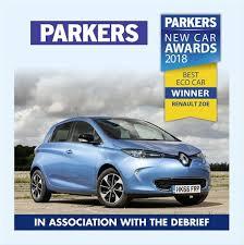2018 renault zoe range. fine zoe renault zoe wins parkers eco car of the year 2018 for renault zoe range