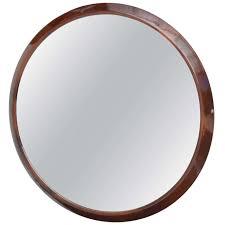 round wooden framed mirror designs