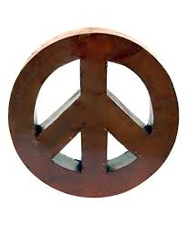 love this rust peace sign