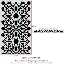 wall stencil pattern kalaat allover stencil for modern wall painting decor