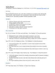 Receptionist Resume Enchanting Resume Template For Salon Receptionist Free Salon Receptionist