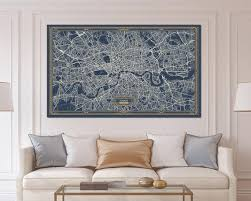 london uk england canvas map print art
