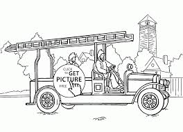 Small Picture Coloring Fire Truck Coloring Sheets