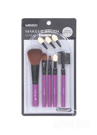 luxury makeup brush 5 piece set includes spare eyeshadow tip