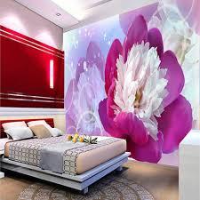 Purple Flower Wallpaper For Bedroom Online Buy Wholesale Purple Flowers Wallpaper From China Purple