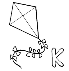 Small Picture Kite coloring pages k for kite ColoringStar