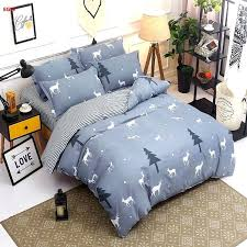 gray twin comforter home textile bedding set deer and tree duvet cover whale bed sheet king