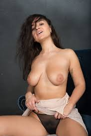 Sexy Brunette Sanita Playfully Poses Naked Showing Off Her Hairy Pussy Glamour A R18hub