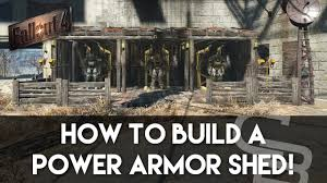 Power Armor Display Stand Fallout 100 Power Armor Shed Fallout 100 Building Tutorial YouTube 7