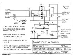 no dc power fully charged batteries this problem can either be a battery disconnect solenoid or the transfer relay in the magnetek 6300 series converter top right in the following schematic