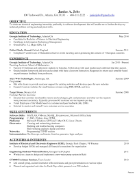 Electrical Engineer Resume Sample 60 Likeable Electrical Engineer Resume Sample Nadine Resume 32