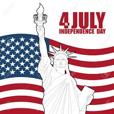 Vettoriale - 4 Luglio Independence Day Of America. Statua Della Libertà E  Bandiera USA Festa Nazionale Patriottica Celebrazione Dello Stato. Image  56724366.