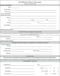 Blank Business Credit Application Form Free For Rental Printable