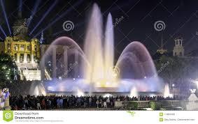 Light Show Fountain Barcelona Magical Fountain Barcelona Editorial Photography Image Of