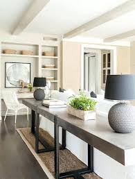 sofa table in living room. Behind The Couch Table Plans Long Concrete Sofa Transitional Living Room Intended For Tables Decorations In T