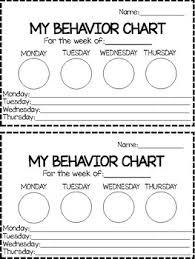 Four Day Behavior Chart
