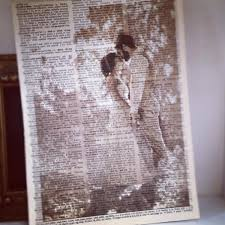 print pictures on old book pages looks amazing