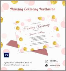 naming ceremony invitation wordings awesome invitation card template 25 free psd ai vector eps of