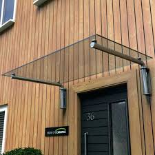 glass front door canopy image collections design for home