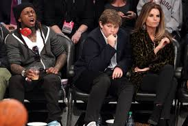 slew of people. nba all star game brings a slew of random famous people together
