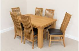 Solid Oak Dining Table With 6 Chairs Sewstars