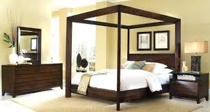 Full Size Platform Canopy Bed Contemporary Beds Decoration Home ...