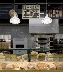 pendant lights above marks spencer bakery counter