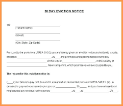 Eviction Letter Template Uk Eviction Notice Template Rental Letter