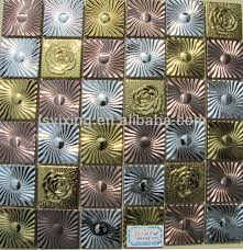Small Picture Gorgeous Stainless Steel Flower Mosaic Tile Front Wall Buy Tiles