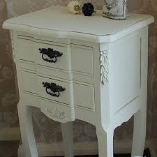 cream two 2 drawer bedside table vintage chic shabby french style distressed 3 eur 11261 3 de 9 chic shabby french style distressed