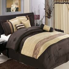 luxury bedroom with brown color bedding sets for men 8 piece brown brown decorative pillow